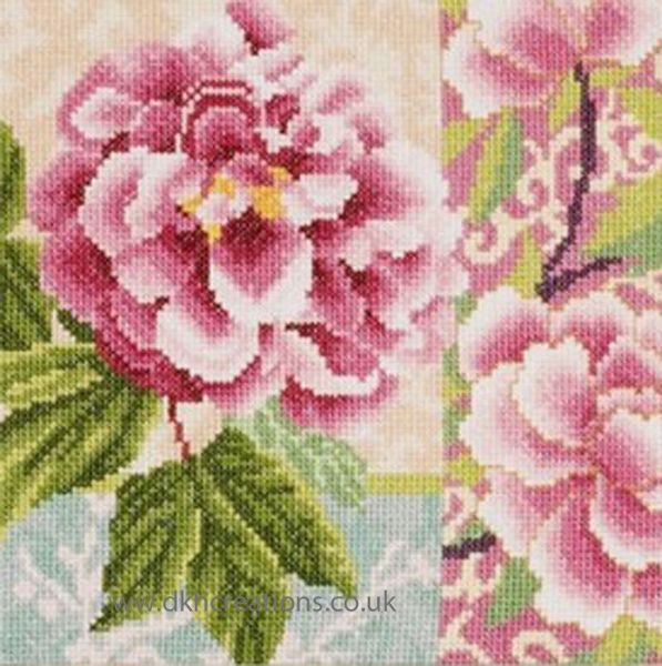 Composition Of Rose Flowers Cross Stitch Kit